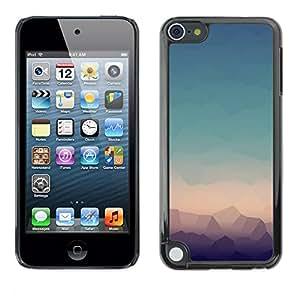 TopCaseStore / la caja del caucho duro de la cubierta de protección de la piel - Lines Landscape - Apple iPod Touch 5