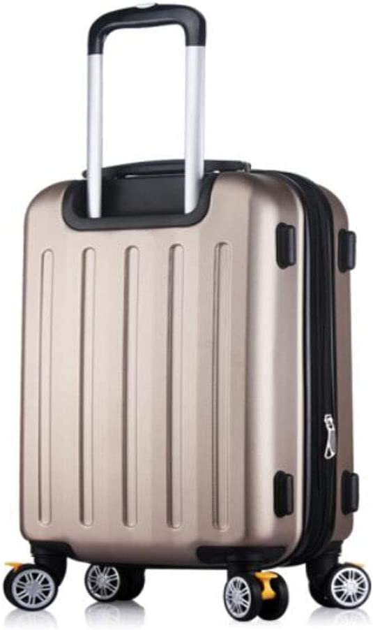 Aishanghuayi Suitcase for Large Capacity Rotating Wheel Light Hard Shell Suitcase 35 23 50 Size Color : Gold, Size : 161022 inch cm Black