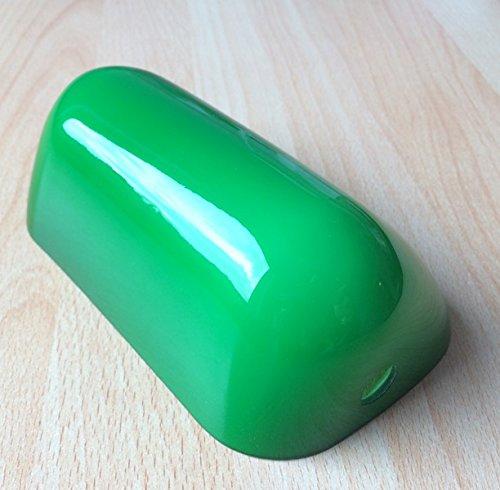 Lampenschirm für Bankerlampe Tischlampe Glas grün