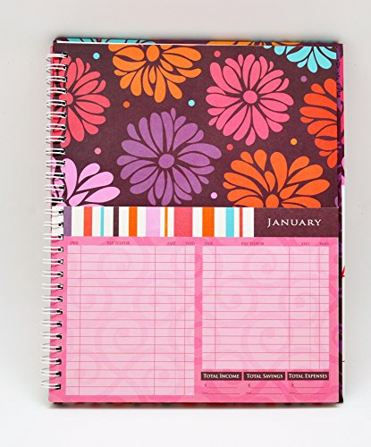 monthly bill paying organizer hard cover budget book with