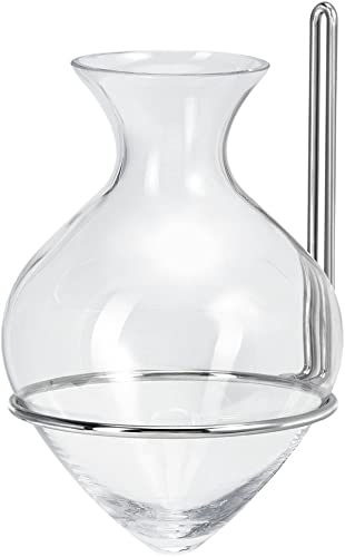 Couronne Company M441N-200 St. Lucia Amphora Vase with Chrome Nickel Hanger, 9 , Clear, 1 Piece