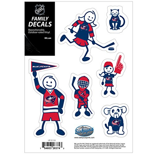 NHL Columbus Blue Jackets Family Decal Set, Small