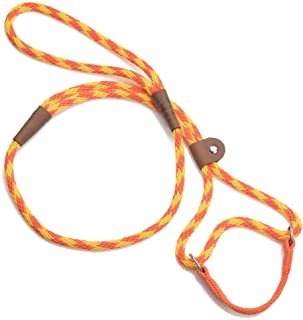 product image for Mendota Pet Dog Walker, Martingale Style Leash - Leash & Collar Combo, Made in The USA - Amber, 3/8 in x 6 ft - for Small/Medium Breeds