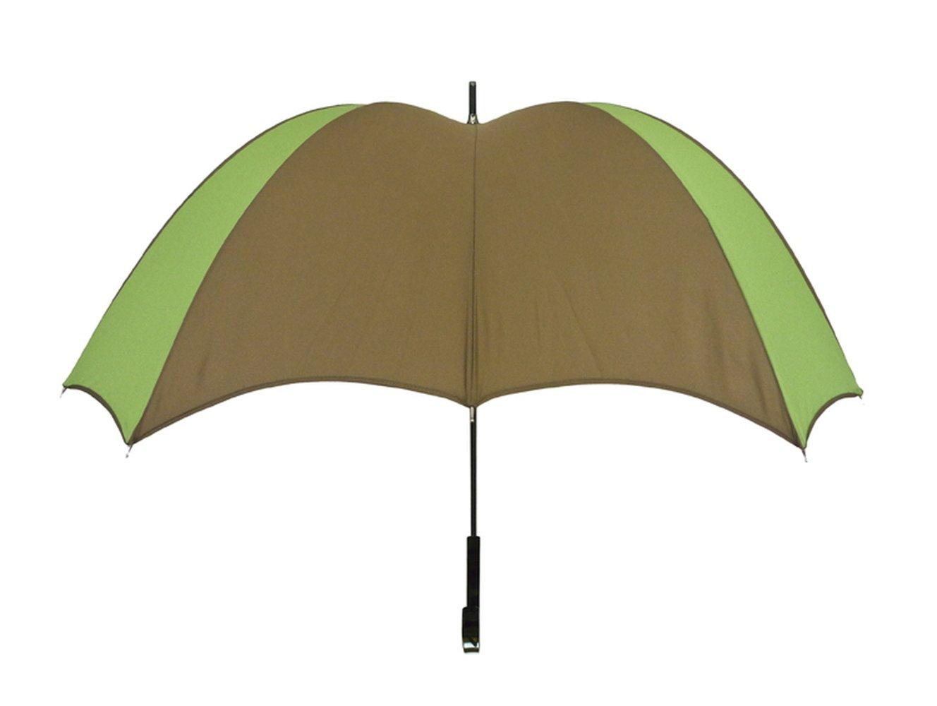 【正規輸入品】 ディチェザレ デザイン クロス ウォーカー カラーコンビ 全4色 長傘 手開き 日傘/晴雨兼用 グリーン&ブラウン 12本骨 52-64cm グラスファイバー骨 テフロン加工 B00T7RFAVG グリーン&ブラウン グリーン&ブラウン