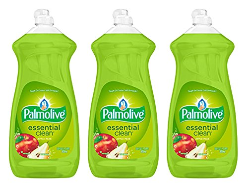 Dishwashing Detergent Palmolive (Palmolive Dish Liquid, Essential Clean, Apple Pear, 28 Fluid Ounce (Pack of 3))