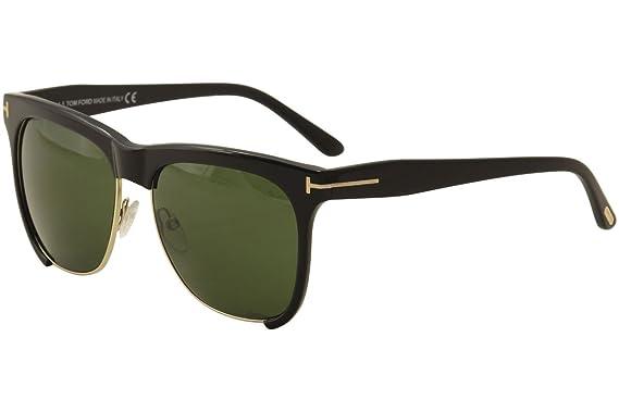 304ca1a333 Tom Ford Thea FT0366 Sunglasses-01G Shiny Black (Brown Mirror Lens)-57mm