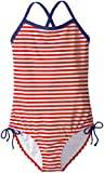 Kanu Surf Big Girls\ Bali Beach Sport Banded 1 Piece Swimsuit, Red Stripe, 12