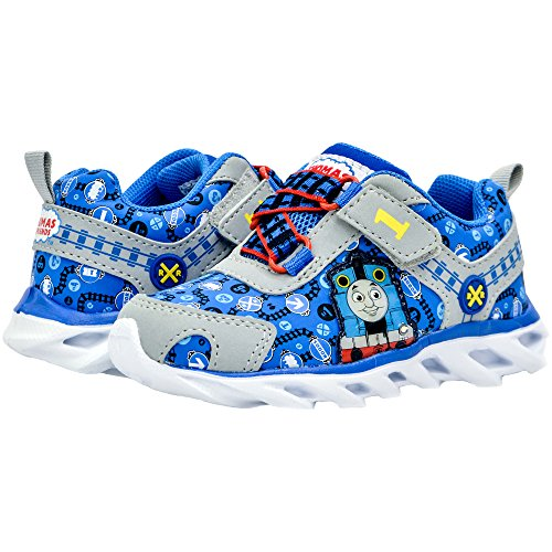 Kids Toddler Boys Thomas The Tank Engine Light up Sneakers Blue Size 5 by Thomas And Friend (Image #1)