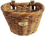 Nantucket Bike Basket Co Cisco Collection Adult D-Shape Bike Basket (Honey)