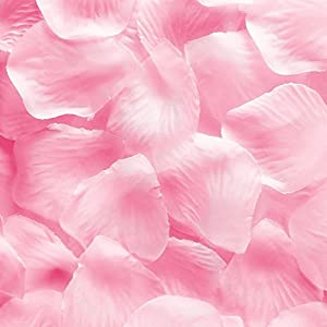 1000pcs Light Pink Silk Rose Flower Petals Wedding Table Scaters Confetti Favor Bridal Party Decoration 73