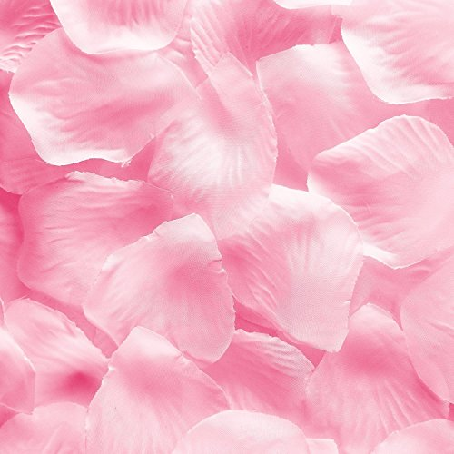 1000pcs Light Pink Silk Rose Flower Petals Wedding Table Scaters Confetti Favor Bridal Party Decoration (Wedding Decorations Pink)