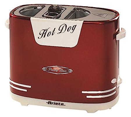 Ariete 186 Máquina de perritos calientes Party Time, 650 W, 2 litros, metal