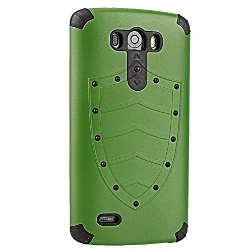 Arm Green Phone Case Body Armor 2 in 1 Combo Case Protective Cover Fit for Lg G3 Hybrid High Impact Hard Impact Full-body Protective Case Cover