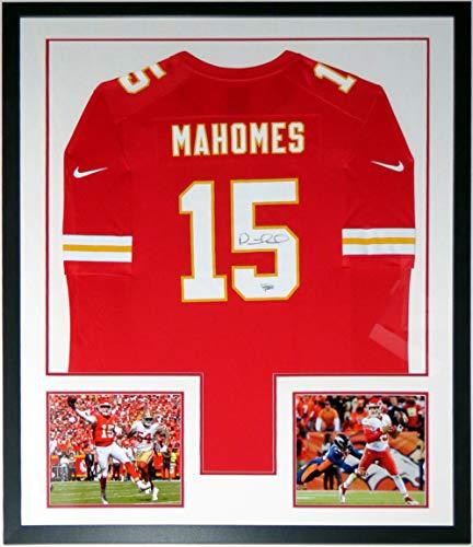 Patrick Mahomes Signed 2018 Nike Kansas City Chiefs Jersey - Fanatics COA Authenticated - Professionally Framed & 2 MVP 8x10 Photo 34x42 1 Kansas City Chiefs Framed
