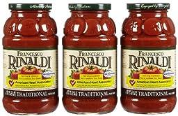 Francesco Rinaldi Traditional Pasta Sauce, No Salt Added, 23.5 oz, 3 pk