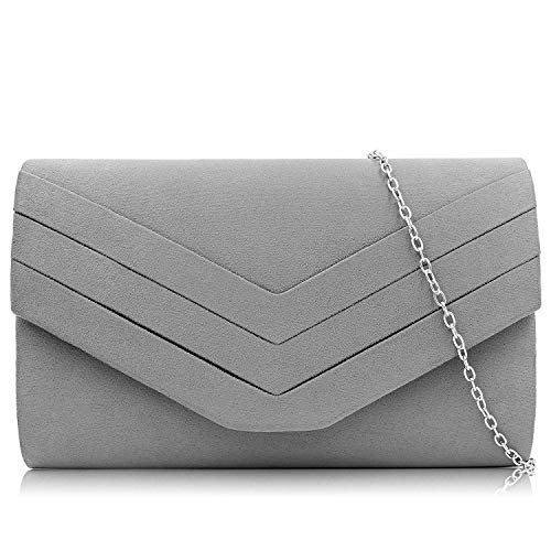 Milisente Clutch Purses for Women Velvet Envelope Evening Bags Classic Shoulder Clutch Purse - Bag Handbag Clutch Purse Shoes