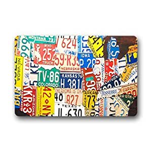 "Custom License plate Doormat Outdoor Indoor 23.6""x15.7"" about 59.9cmx39.8cm"