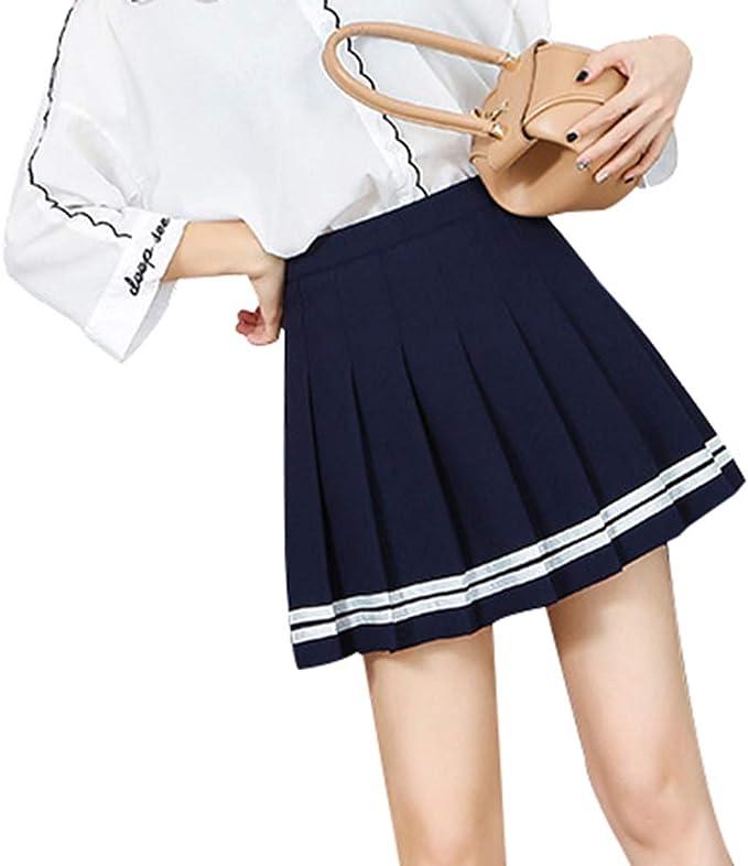 hibote Mujeres Falda A Cuadros Estilo Lolita Harajuku Kawaii ...