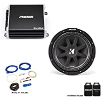 """Kicker 43C104 10"""" Comp Subwoofer with 43DXA1252 DX-Series Amplifier and wire kit"""