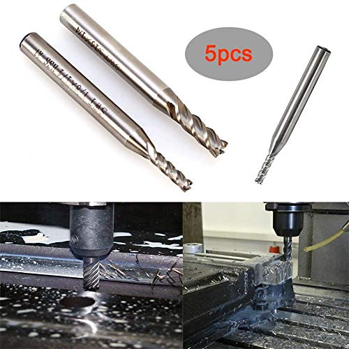 1//4 x 1//8 inch Carbide Square End Mill 4 Flutes End Mill Cutter Suitable for CNC Data Processing Center Carved Machines End Mill Bits
