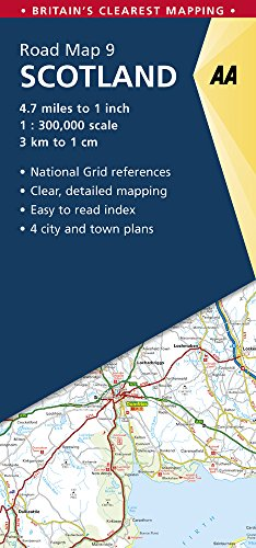 Scotland Road Map (AA Road Map Britain) (Aa Road Map)