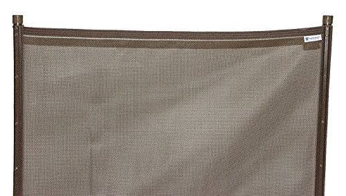 EZ-Guard 4' x 12' Child Safety Pool Fence (Brown)