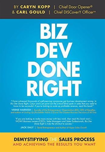 BIZ DEV DONE RIGHT is devoted to helping business owners, sales VPs, and sellers uncover and manage the blind spots in the sales process that keep you from the success you deserve. Learn the practical and powerful information you need to IMMEDIATELY ...