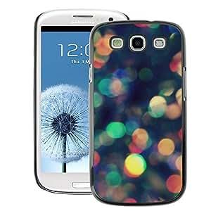 A-type Arte & diseño plástico duro Fundas Cover Cubre Hard Case Cover para Samsung Galaxy S3 (Colorful Lights Reflection Scatter)