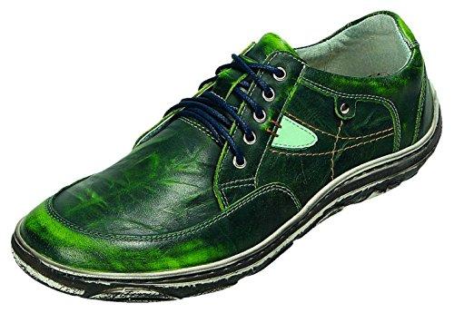 Mujer komb Verde Cordones De Grün Miccos Para Zapatos wx640n8z