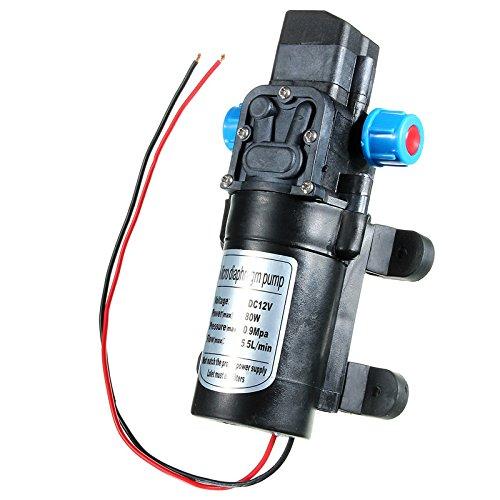 DC12V 80W 0142 Motor 5.5L/Min High Pressure Diaphragm Water Self Priming Pump by SPK603