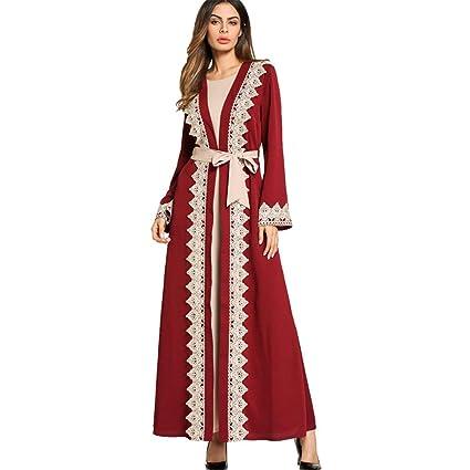 Cvbndfe Cómodo Gran división de la Mujer Tenedor de Gran tamaño Vestido de Mujer Falso Traje