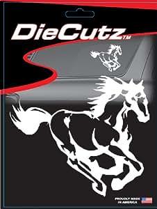 "Chroma 3935 White 6"" x 8"" Vinyl 'Horse' Die Cutz Decal"
