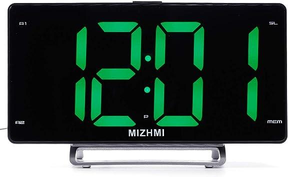 Radio despertador de proyección reloj gran pantalla LED proyector ...