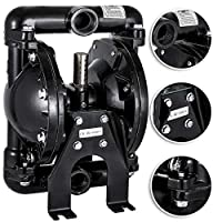 Happybuy Air-Operated Double Diaphragm Pump 1 inch Inlet Outlet Aluminum 35 GPM Max 120PSI for Chemical Industrial Use, QBY4-25L-1inch-35