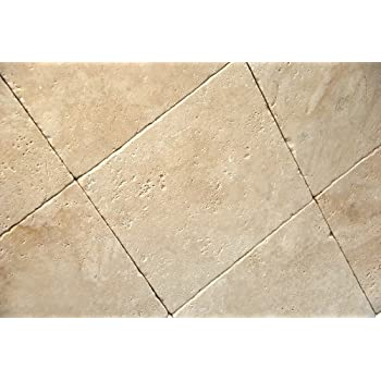 light ivory 12x12 tumbled travertine tile