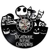 Creative Black Vinyl Clock Gift Nightmare before Christmas For Sale