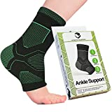Stretch Support Ankle Compression Socks for Foot Pain Relief, Black Athletic Sleeve Supports Achilles Tendon with Heel/Arch Support, Elastic Open Toe Brace Knitted for Increased Breathability …