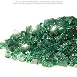 Starfire Glass 10-Pound (Fire Glass) 1/4-Inch Emerald Reflective