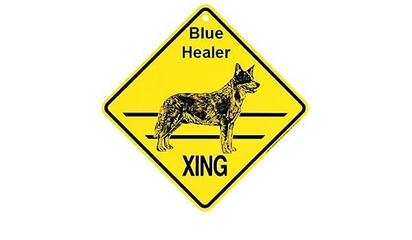 Blue Heeler Dog Crossing Xing Sign New Blue Healer