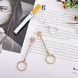 DaveandAthena 3 Pieces Cigarette Holder Ring Rose