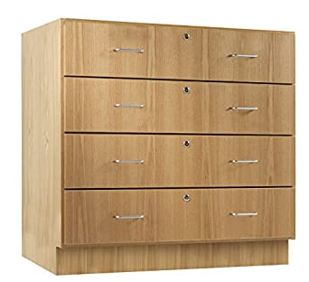 Diversified Woodcrafts 121 3622 Solid Oak Wood Base Cabinet With 4 Locking  Drawer, 36u0026quot