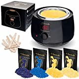 Lementa Wax Warmer Hair Removal Kit – Your Secret to Silky Smooth Skin All in One Stater Kit with Natural Coconut Oil Hard Wax Beans + 10 spatulas Painless Waxing at Home For Women & Men Review