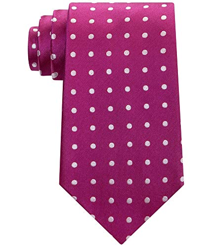 Sean John Men's Dandy Dot Tie, Berry, One Size
