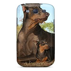 Awesome Case Cover/galaxy S3 Defender Case Cover(doberman Pincher Mom Baby)