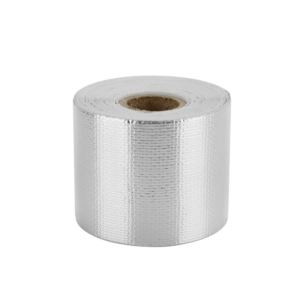 Walmeck Nastro scudo termico Rifletti la fascia di isolamento termico leggera della cintura in fibra di vetro ignifuga della cinghia della vetroresina