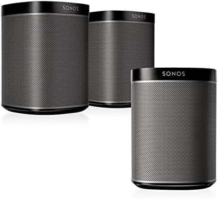Sonos PLAY:1 Multi-Room Digital Music System Bundle (3 - PLAY:1 Speakers) - Black