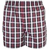 Gildan Men's Woven Boxer Underwear Multipack, Mixed red/Grey, Small