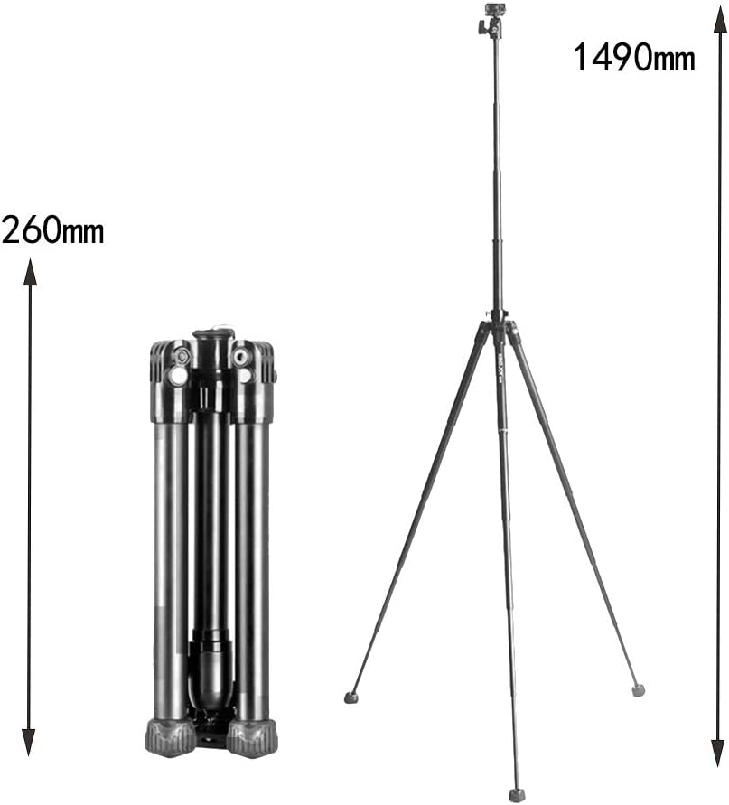 electronic Portable Camera Tripod, Mini Quick Loading Plate Tripod Mobile Phone Bracket monopod, Suitable for Travel and Work