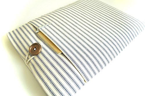 Blue-Stripes-MacBook-Air-or-Pro-Case-Handmade-Custom-Fitted-for-Most-Laptop-Models-11-156