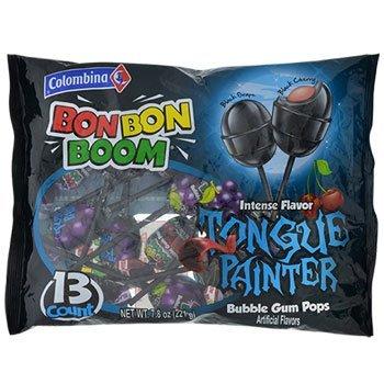 Columbina Bon Bon Boom Tongue Painter Bubble Gum Pops, 13-ct.( 1 pack ) ()